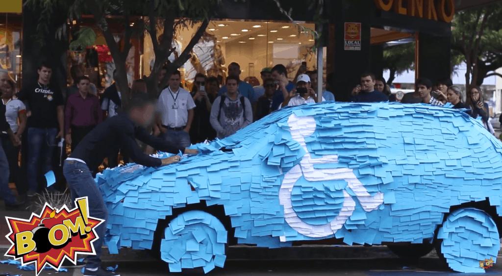 Prank Brasilien Behindertenparkplatz