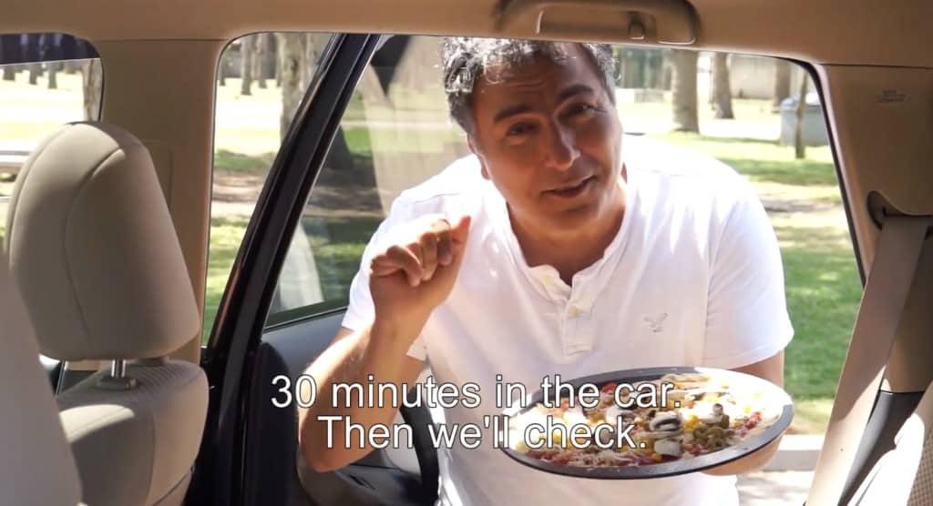 Pizza im Auto machen