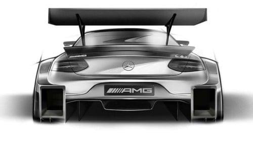Skizze Mercedes C63 AMG DTM Coupé - DTM 2016