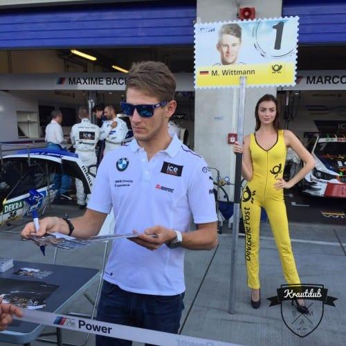 Autogrammstunde Marco Wittmann mit Gridgirl