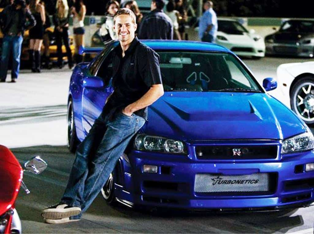 Paul Walker an seinem GTR
