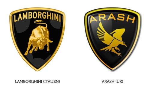 Lamborghini Logo und Arash Logo