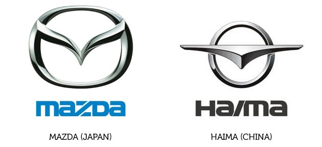 Mazda Logo und Haima Logo