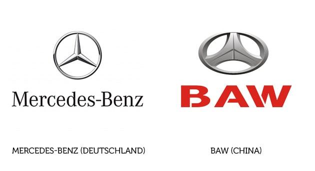 Mercedes-Benz Logo und BAW Logo