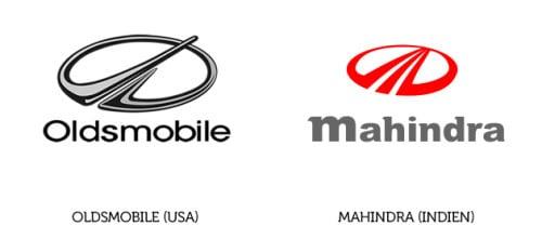 Oldsmobile Logo und Mahindra Logo