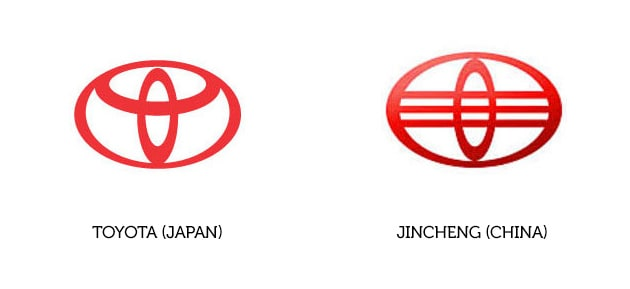 Toyota Logo und Jincheng Logo