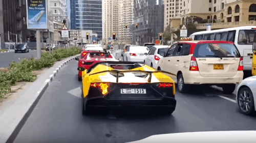 Video: Lamborghini Aventador in Flammen