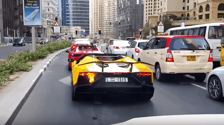 Video: Lamborghini Aventador in Flammen