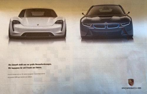 100-Jahre-BMW-Porsche-Anzeige