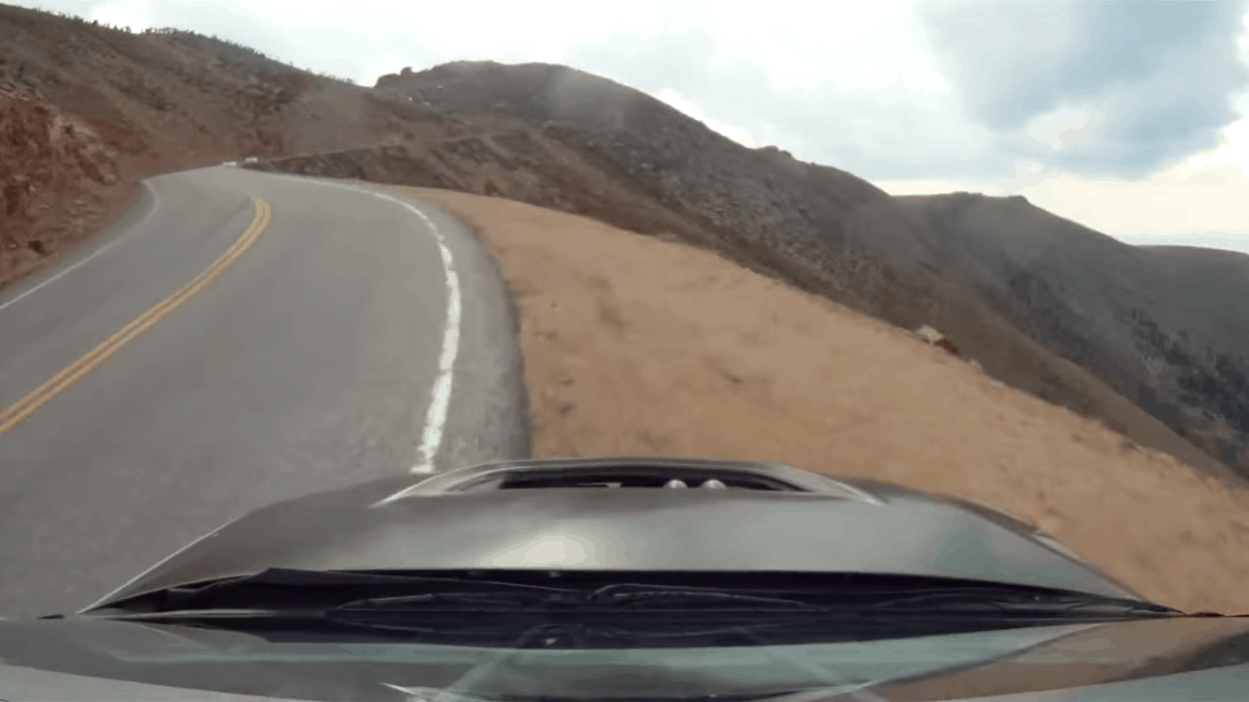 Video: Der Moment wenn die Straße zu Ende ist