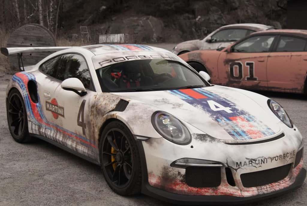 Porsche 911 GT3 foliert im Martini-Look