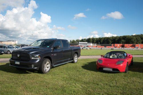 Dodge Ram & Tesla Roadster