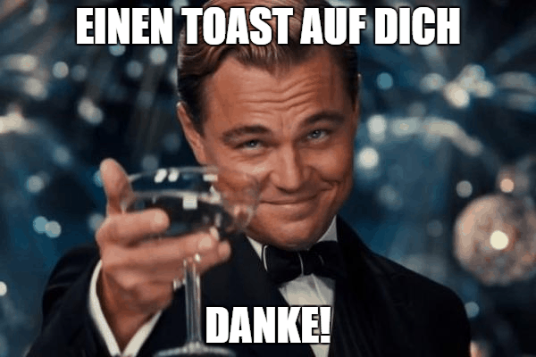 Leonardo DiCaprio Toast