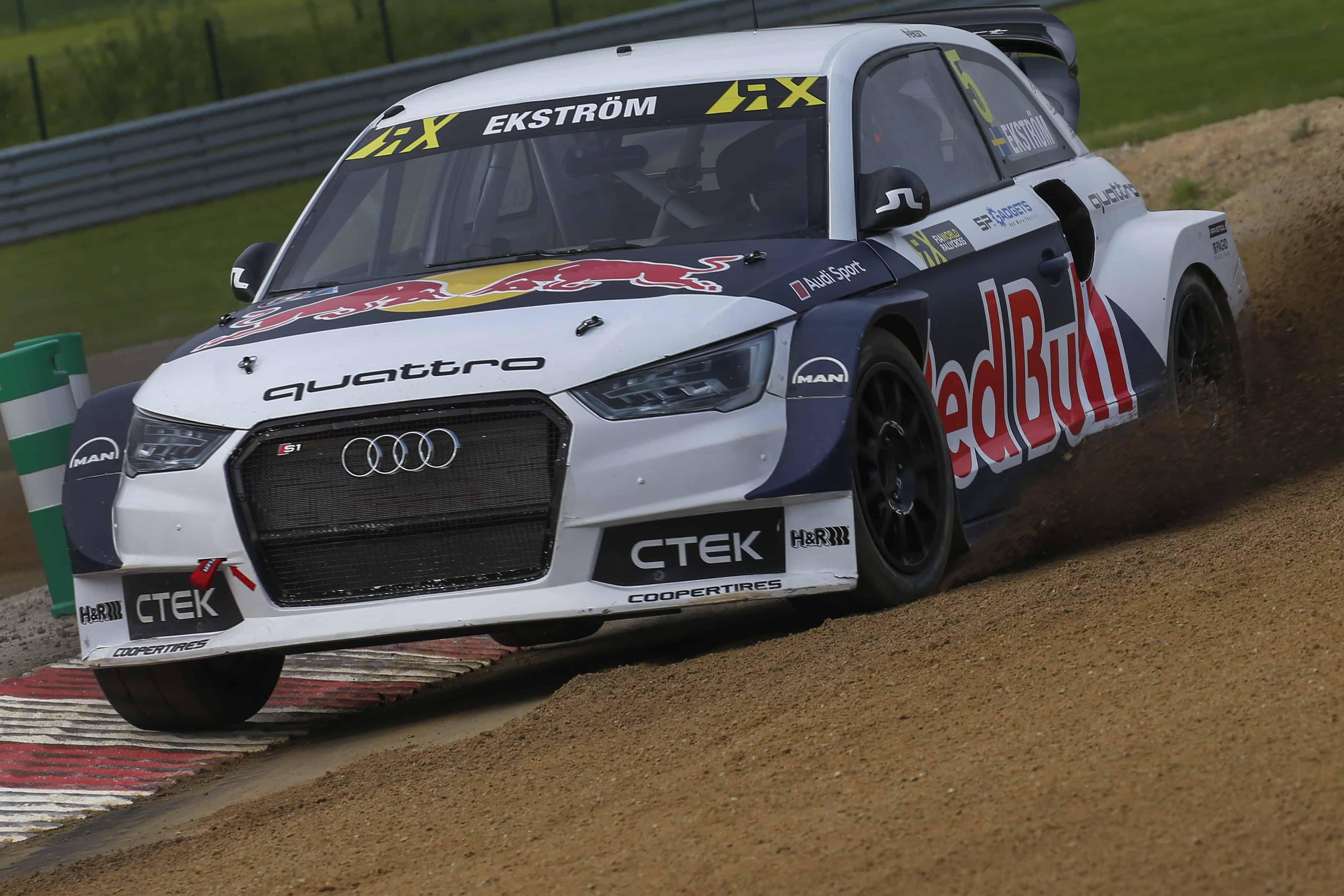 Mit H&R-Technologie bestückt: Audi S1 EKS von Rallyecross-Weltmeister Mattias Ekström.
