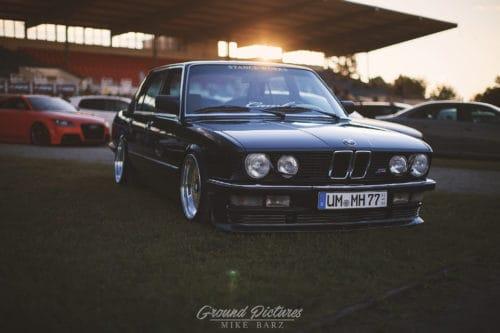 BMW E28 mit HP-d Luftfahrwerk und BBS E50
