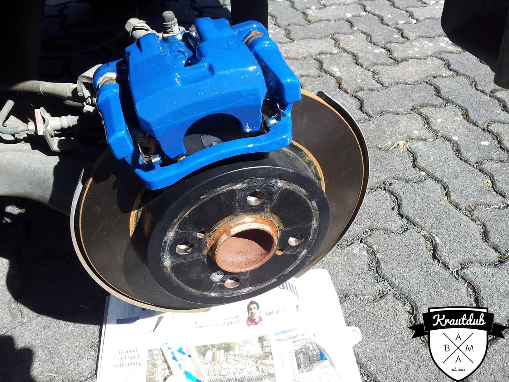 Bremssattel in Blau am Suzuki Swift