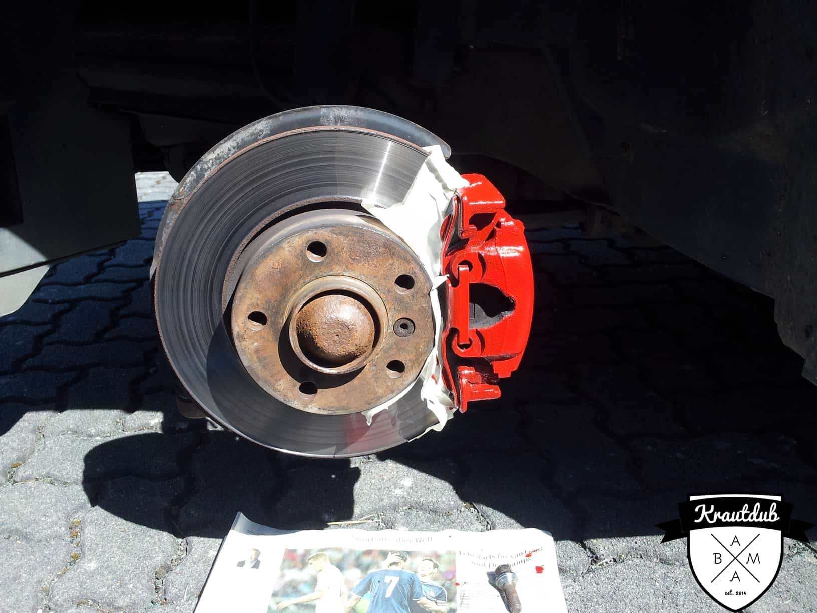 Bremssattel in Rosso Rot am BMW E36
