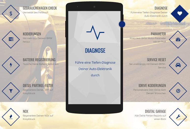 Carly App für BMW