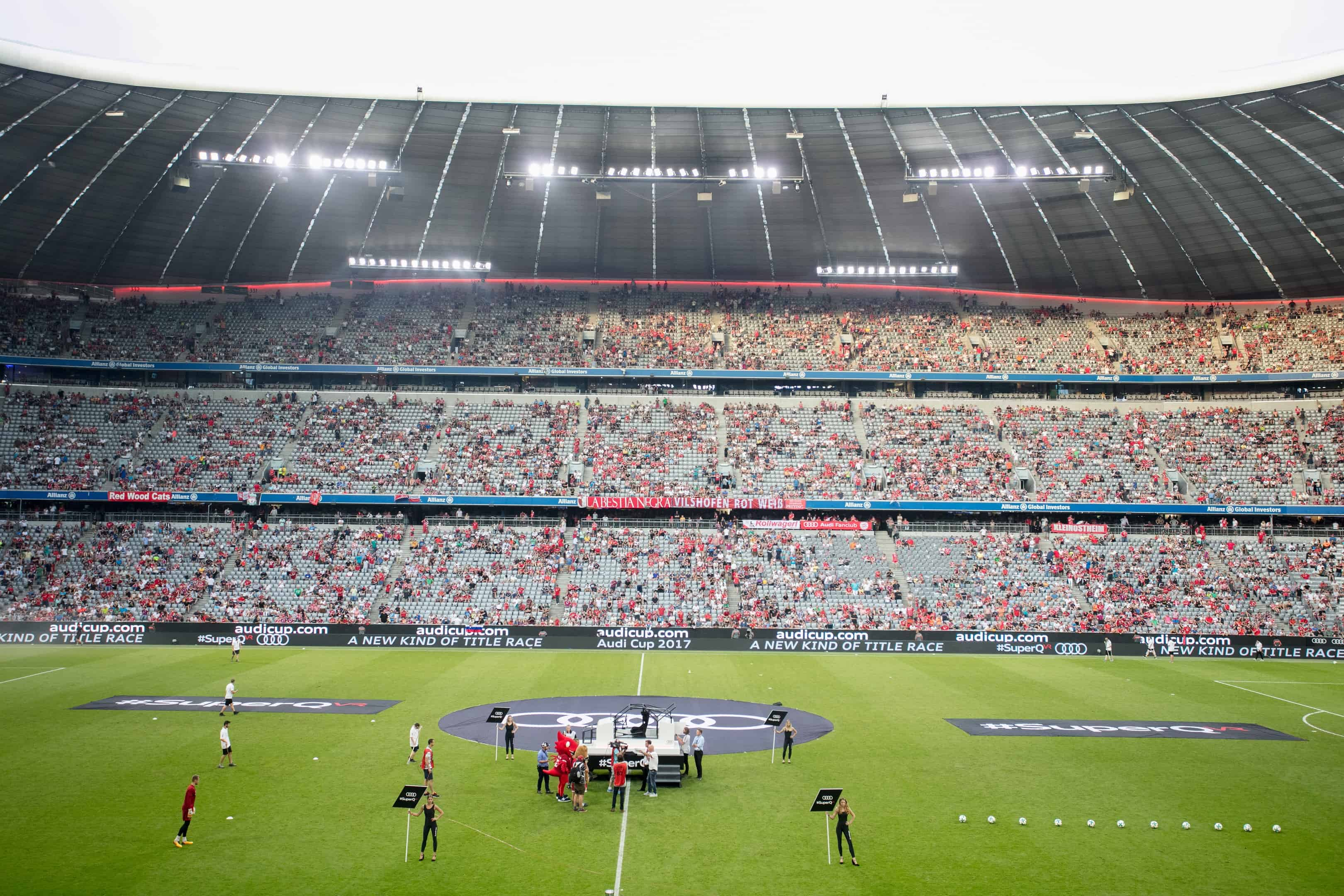 Allianz Arena München - Audi Cup 2017  - #SuperQ Virtual Reality Rennen