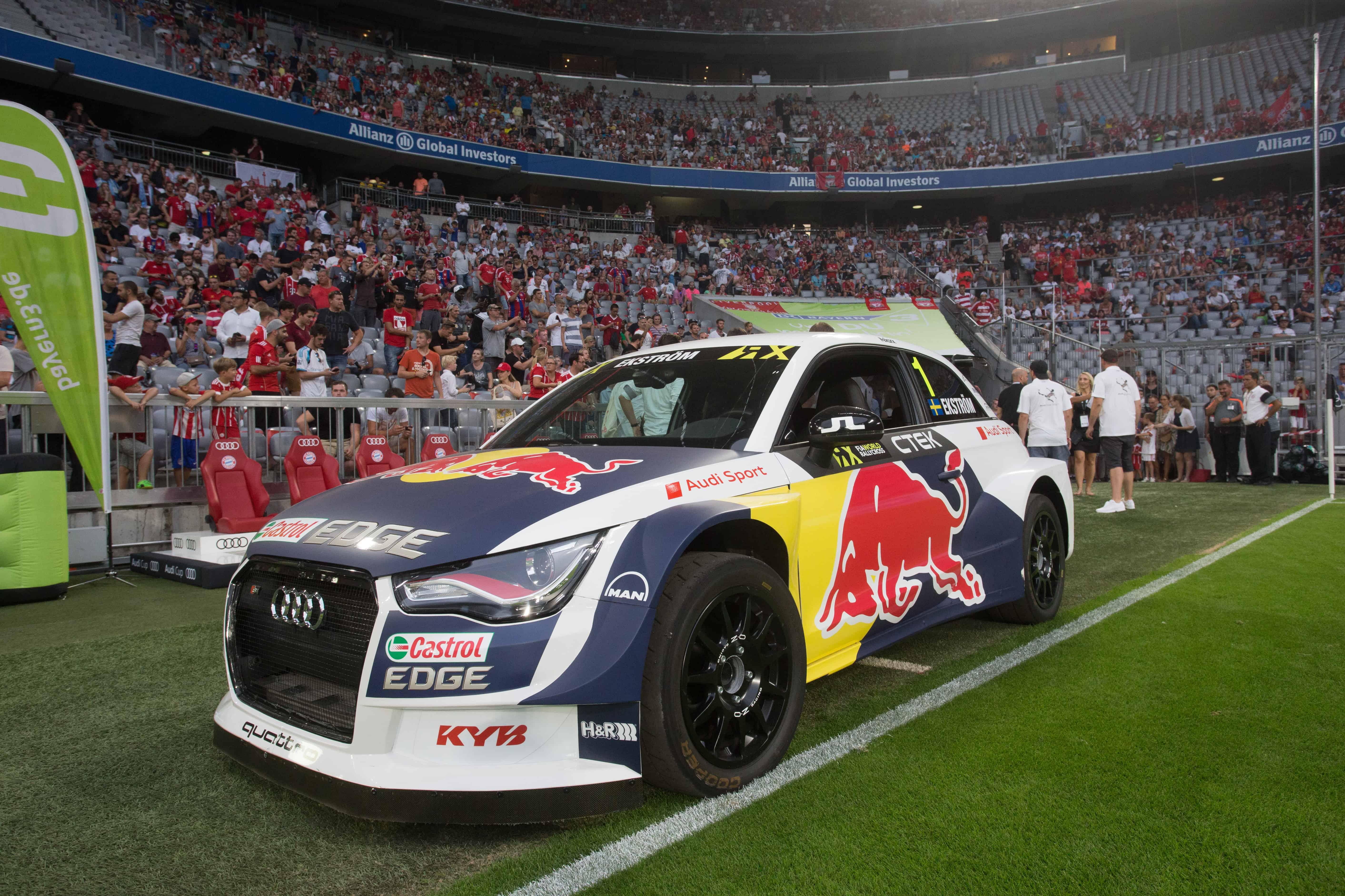 Audi Cup 2017 Mattias Ekström mit Audi S1 EKS RallyCross