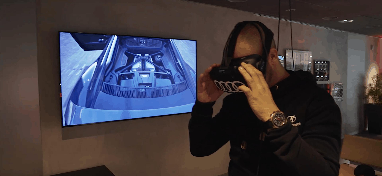 JP-Performance - Jean-Pierre Krämer konfiguriert mithilfe einer VR-Brille seinen neuen Audi R8 Plus