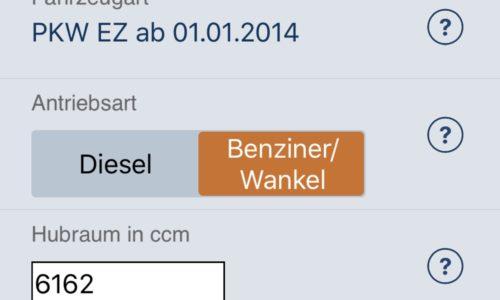 [Apps] KFZ-Steuerrechner