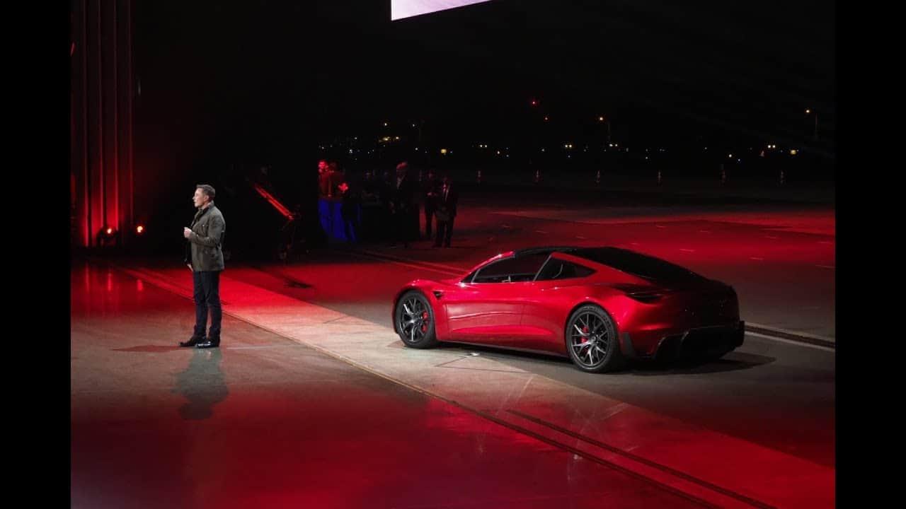 Elon Musk - PräsentationTesla Roadster 2.0