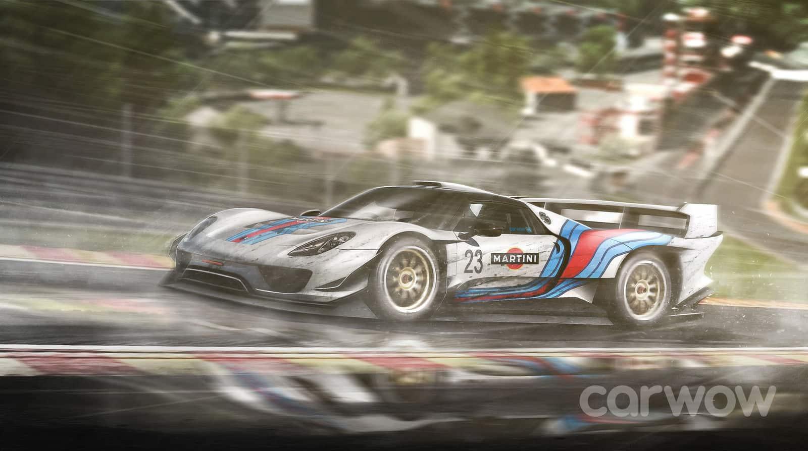 Rendering Porsche 918 Le Mans