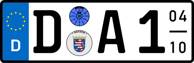 Kennzeichenlänge ermitteln - Saison mit Engschrift D-A1