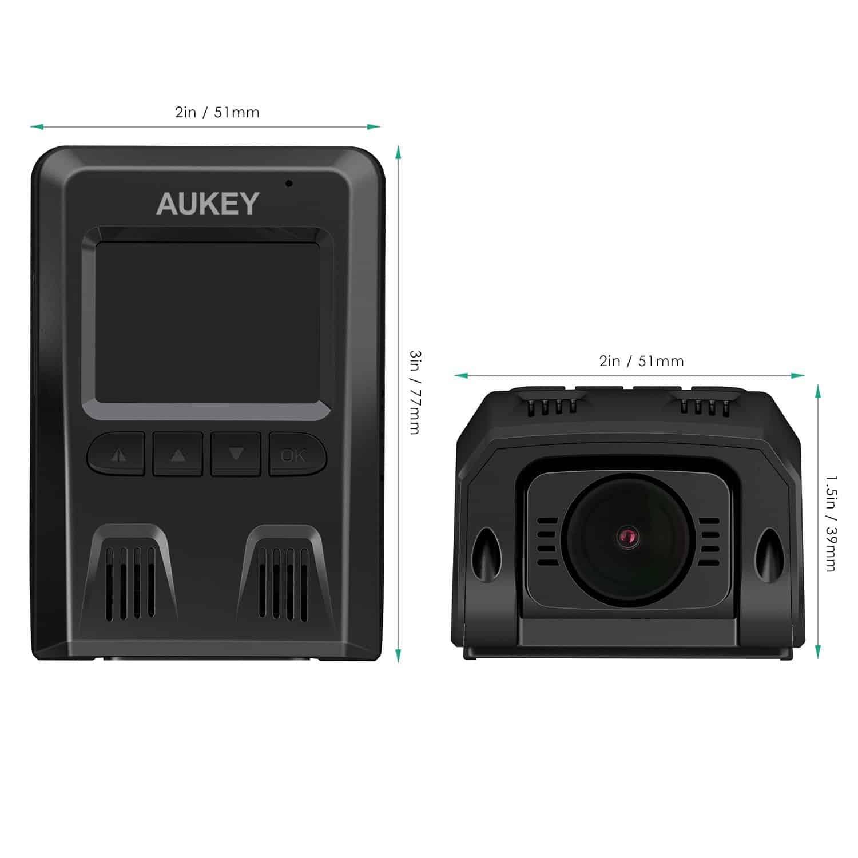Abmessungen Aukey DR02 Dashcam