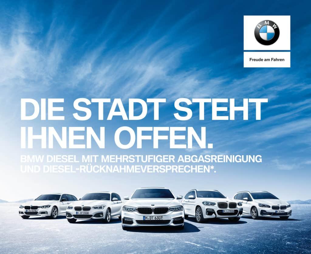 BMW Rücknahmeversprechen bei Dieselrückläufern