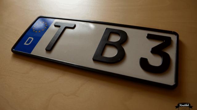 3D-Kennzeichen T-B3