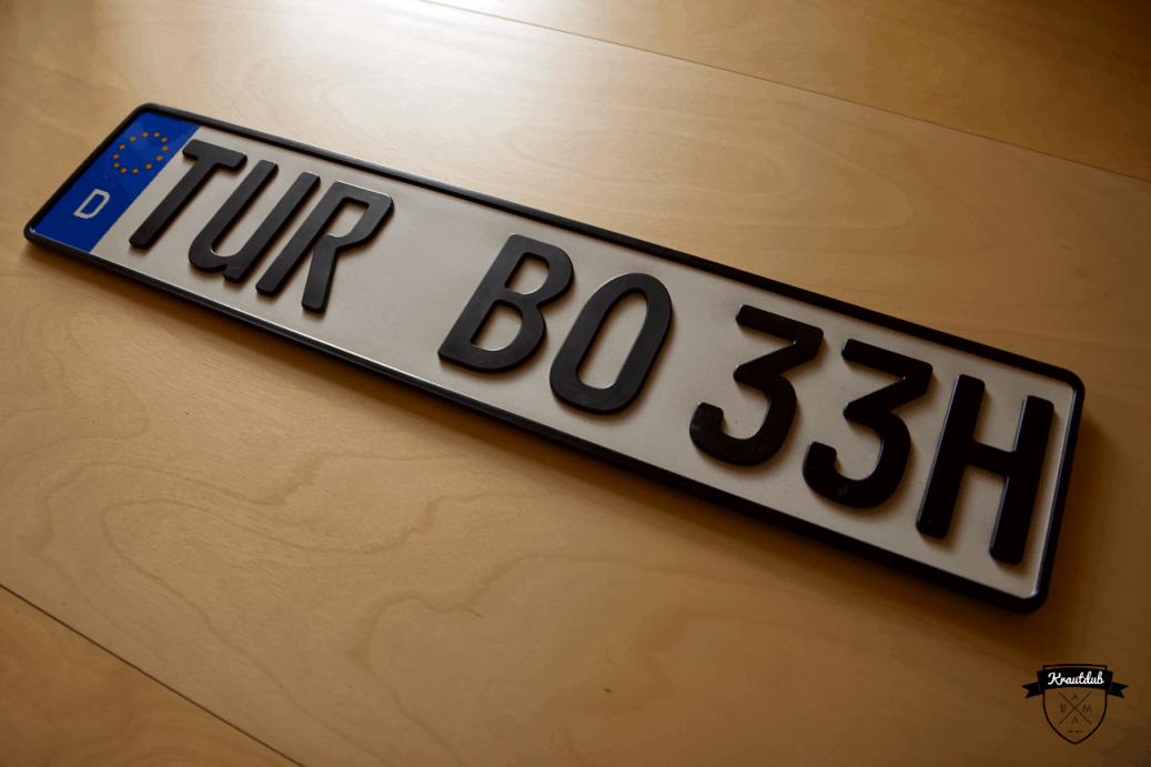 3D Oldtimer-Kennzeichen (H)