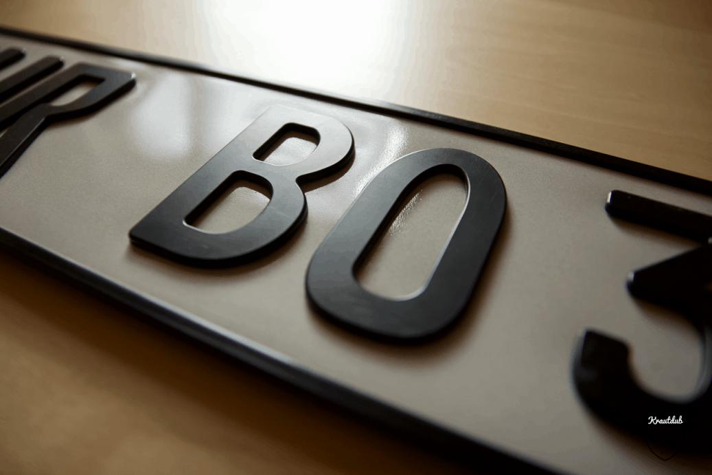 Standard 3D Kennzeichen