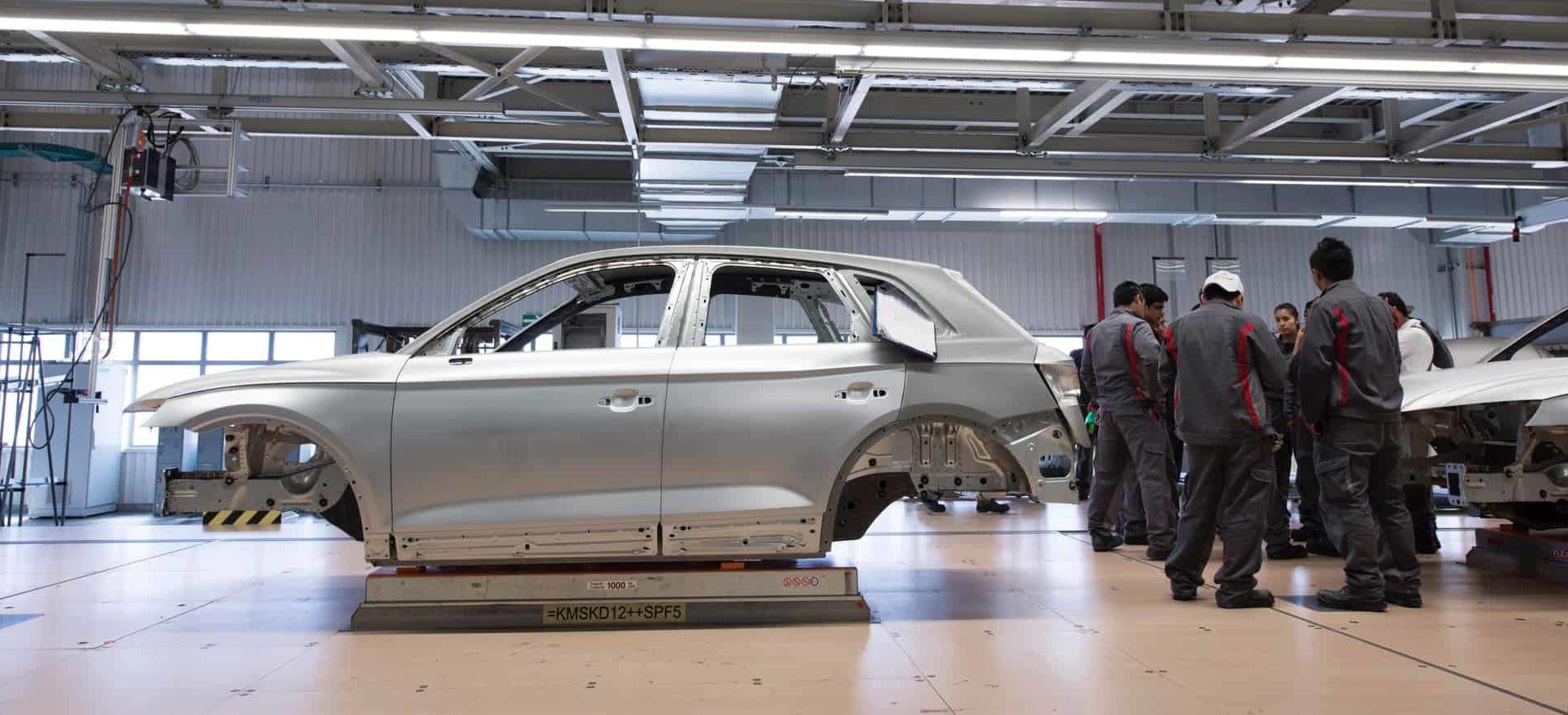 Autoherstellung eines Audi SUV