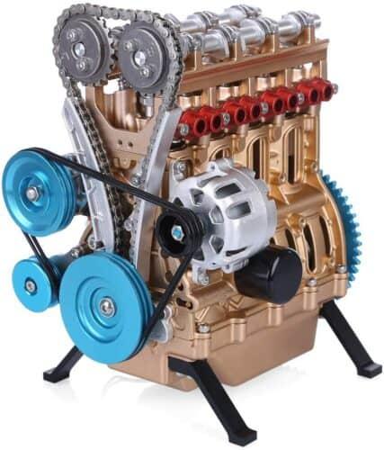 DIY Bausatz - 4 Zylinder Schreibtischmotor