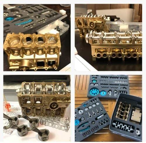 DIY Bausatz - 4 Zylinder Schreibtischmotor erhältlich auf Amazon in USA